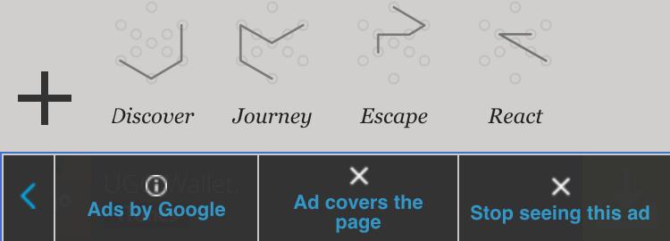 google mobile ads warning b