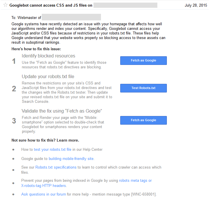 google sc warning css javascript2