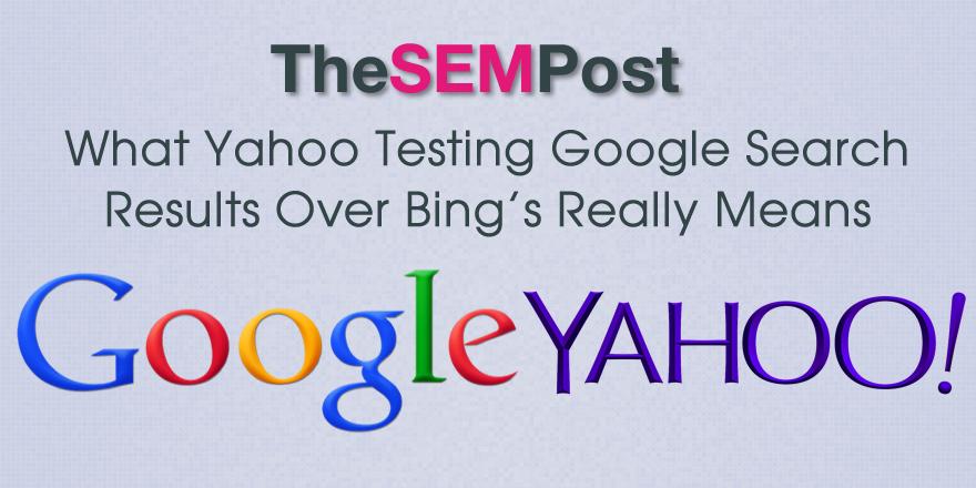 yahoo test google