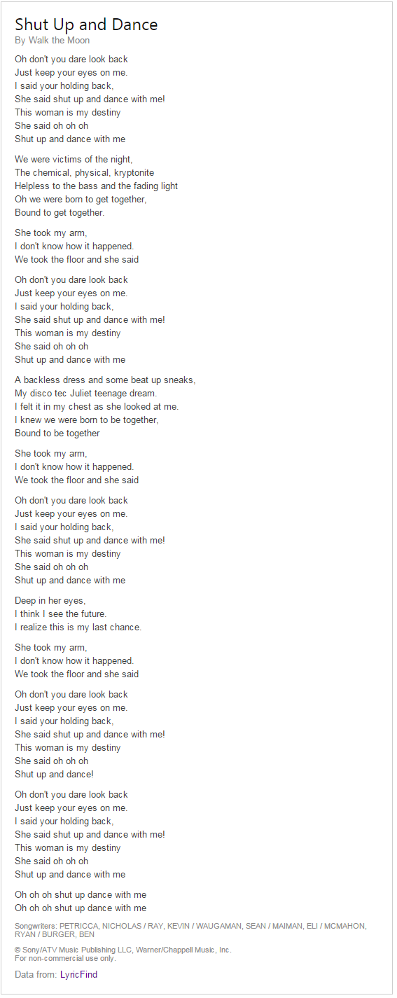 bing lyrics 4