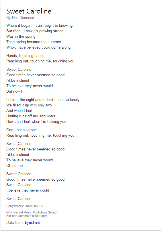 bing lyrics 5