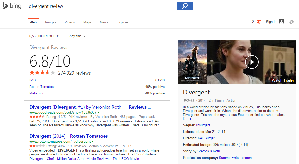 bing movie review 2