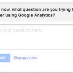 google analytics feedback