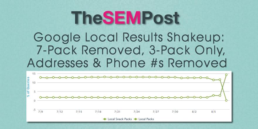 google local pack shakeup