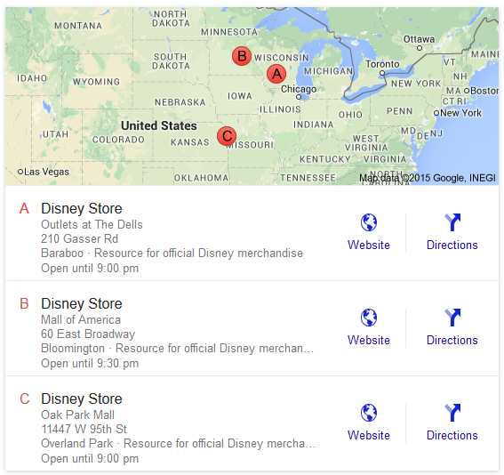 google local serps addresses included 2