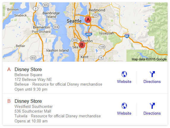 google local serps addresses included