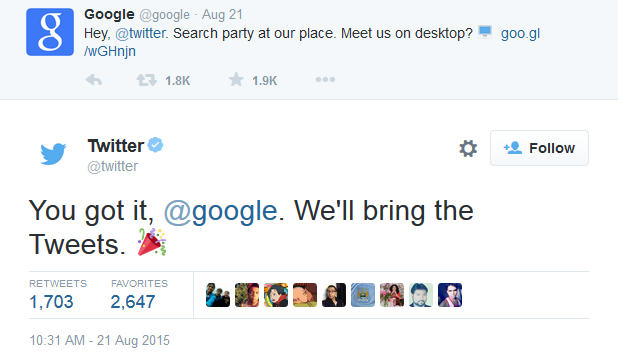 google twitter exchange