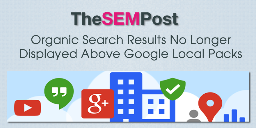 organic above google local results