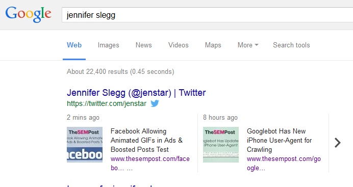 Tweets Appearing Real Time in Desktop Google Search Results Now