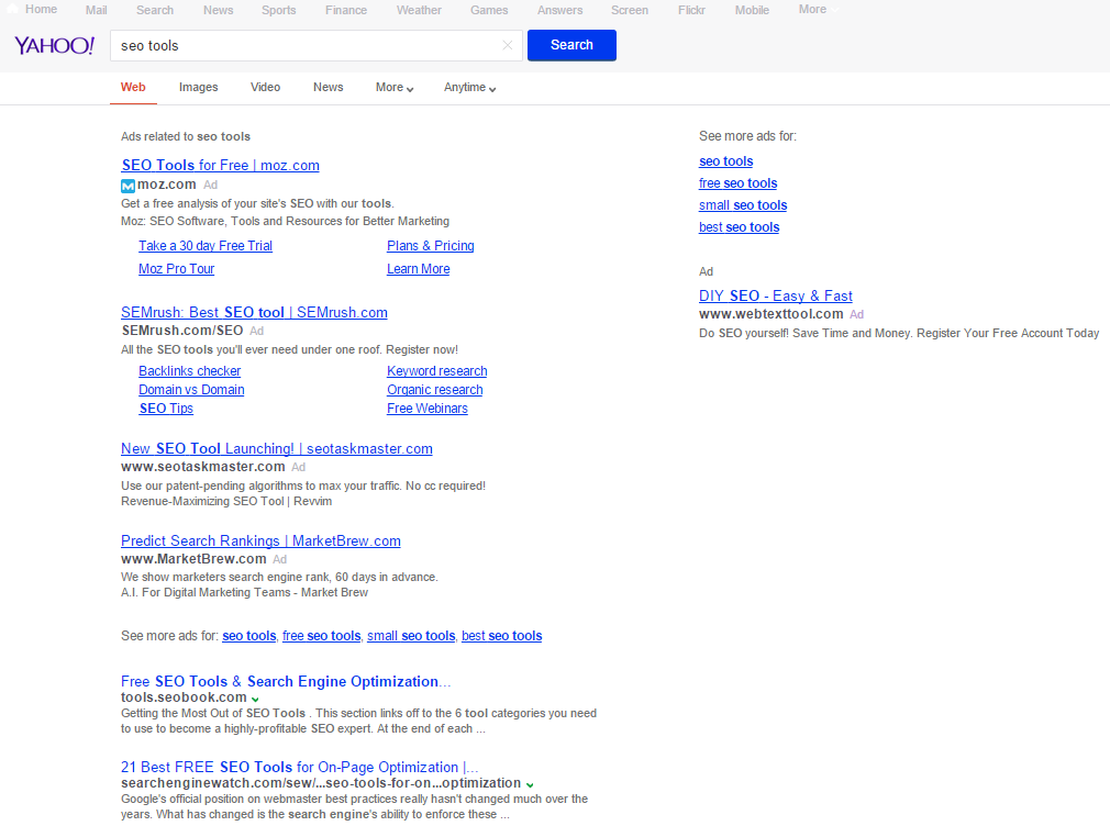 Yahoo Now Testing Grey URLs in Search Results