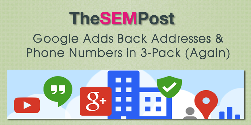 google adds local 3 pack
