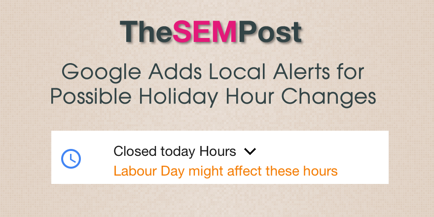 google local holiday hours