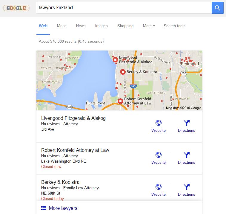 google local no address