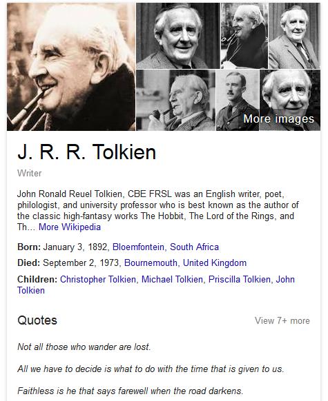 google quotes knowledge panel