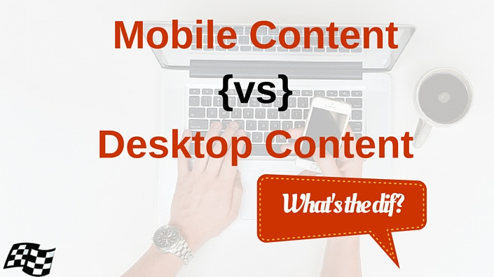 mobile content vs desktop content