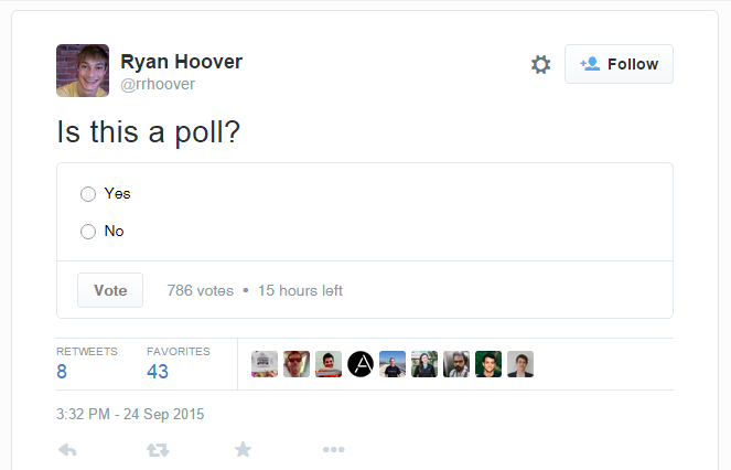 Twitter Begins Testing Polls Within a Tweet