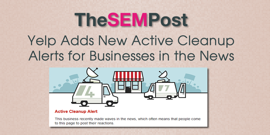 yelp active cleanup alert