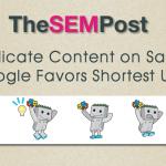 google dupe content url length