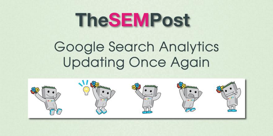 google search analytics updating