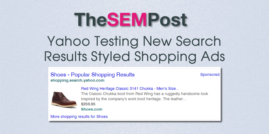 yahoo shopping ads search