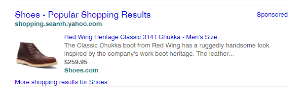 Yahoo Testing Search Results Style PLA Shopping Ads