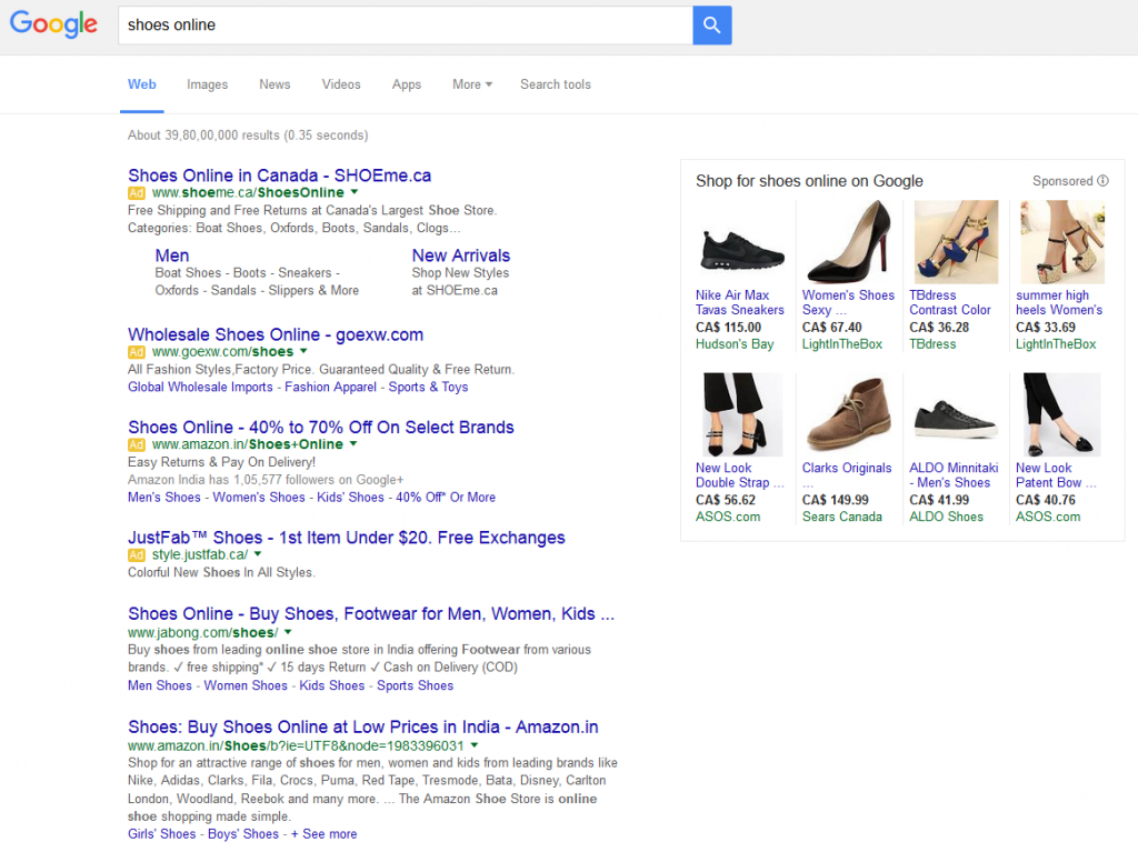 4 adwords ads top