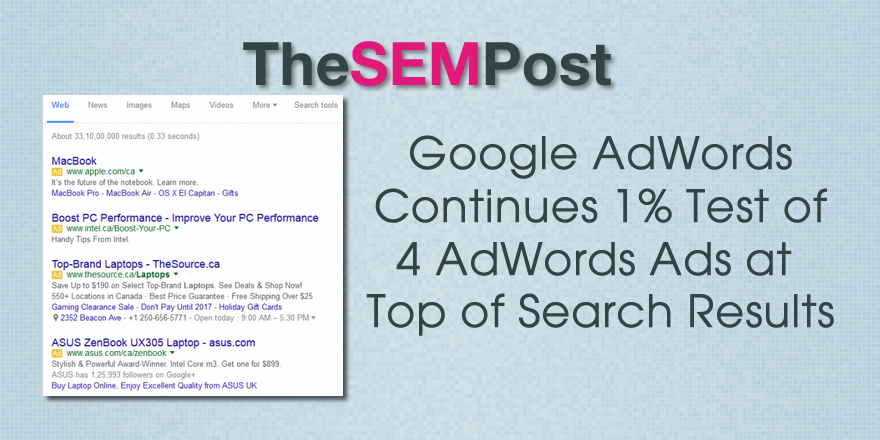 4 adwords top search results