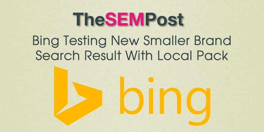 bing brand local pack