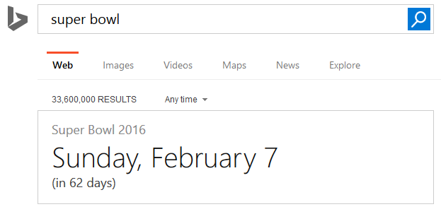 bing how many days