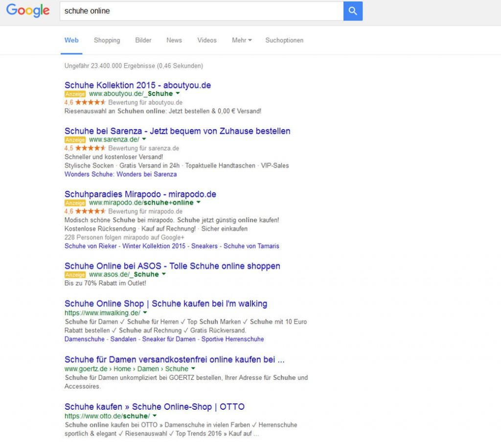 google-zeigt-vier-ads-schuhe-online