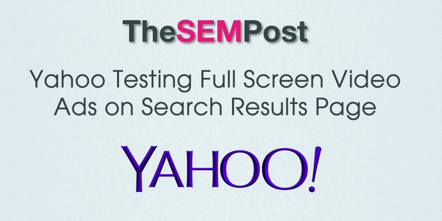 yahoo video ads search results
