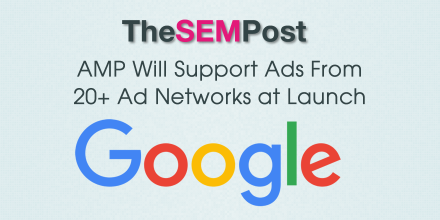 amp ad networks launch