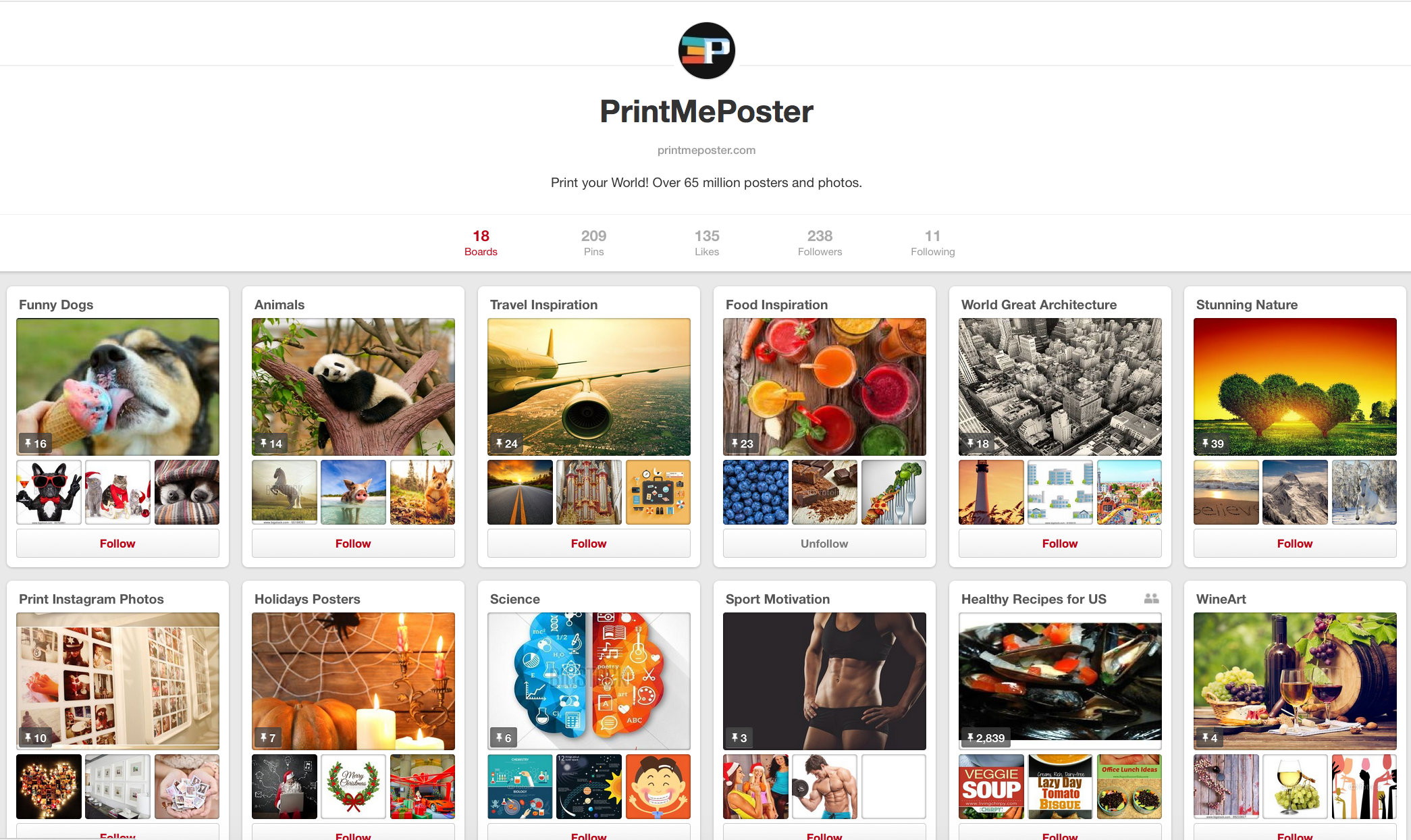 PrintMePoster Pinterest