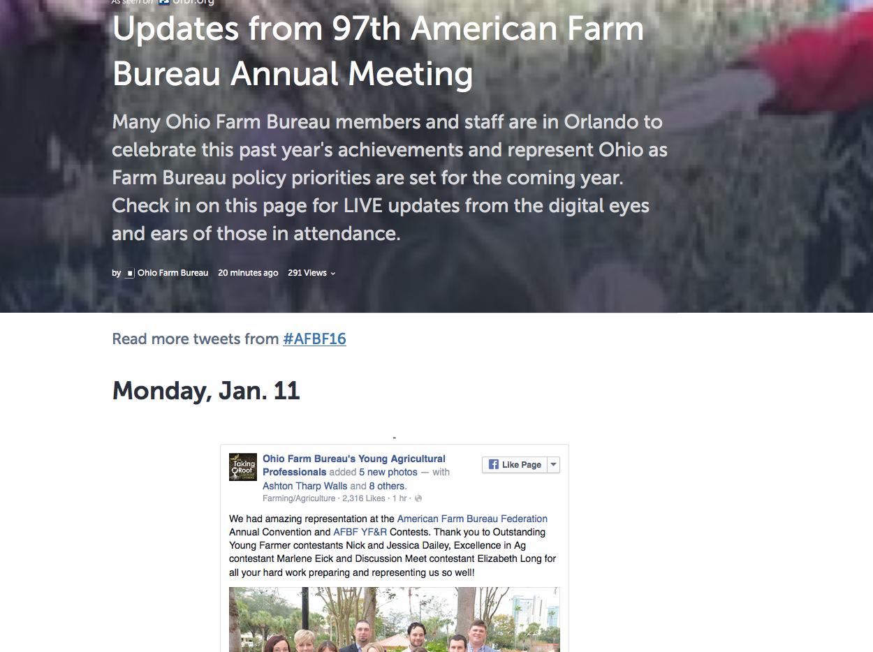 Ohio Farm Bureau storify