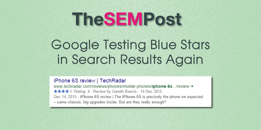 google blue stars test