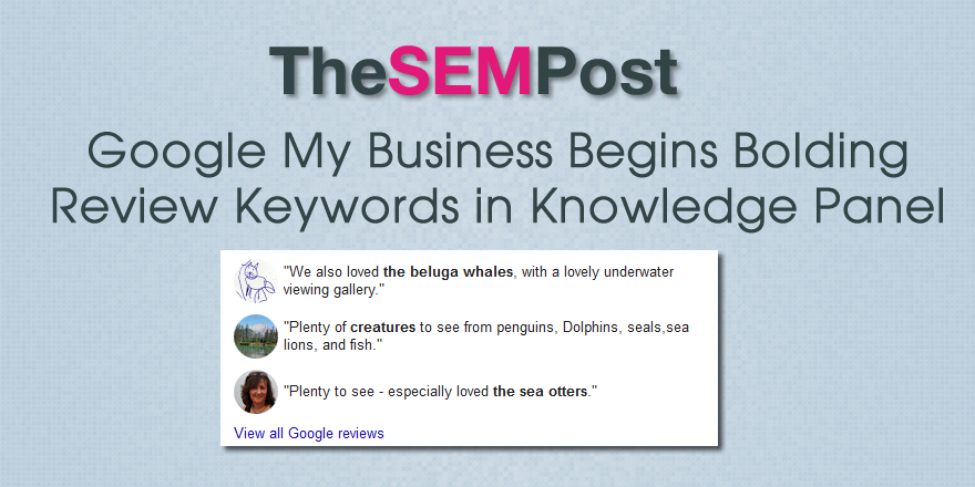 google my business bold kp keywords