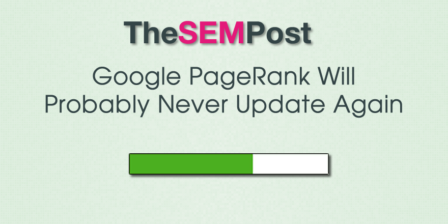 google pagerank never update