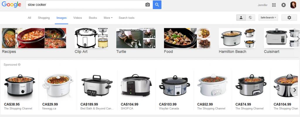 google plas image search