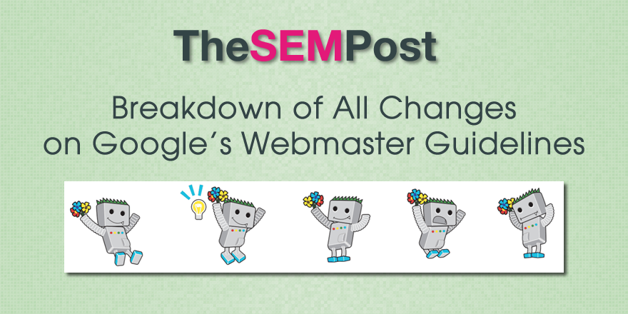google webmaster guideline changes