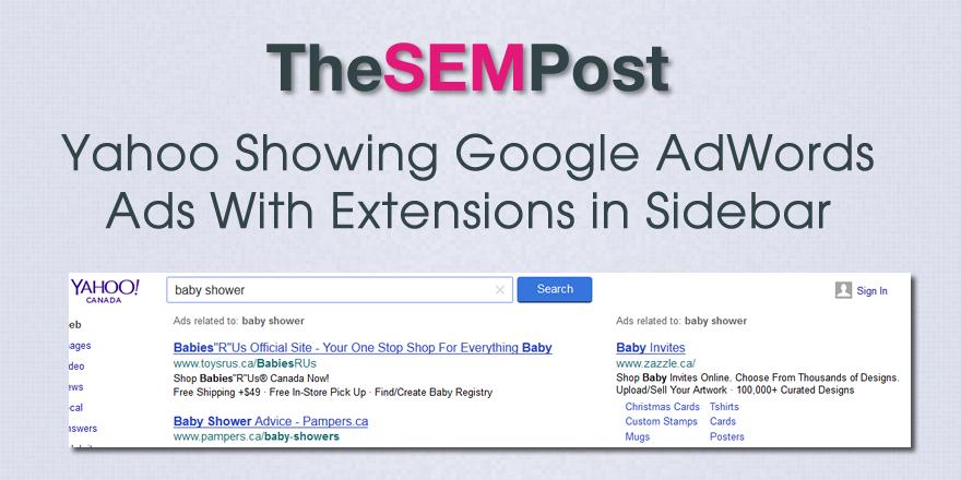 yahoo google sidebar extensions