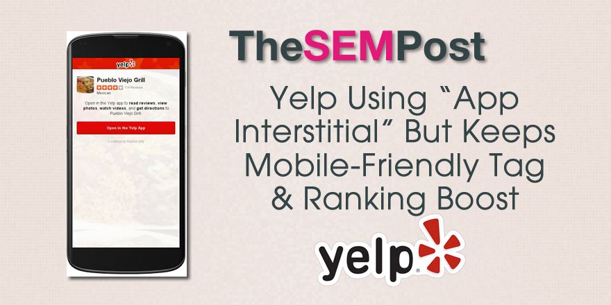 yelp app interstitial
