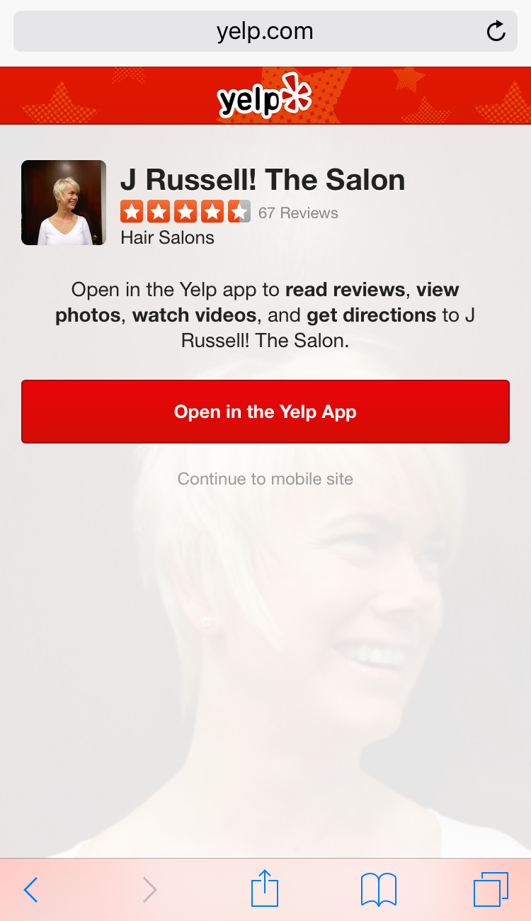 Yelp Using App Interstitial But Keeps Mobile-Friendly Tag & Ranking Boost