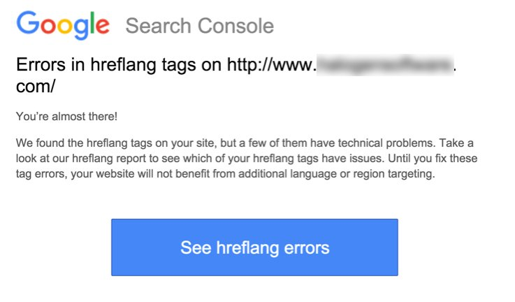 Check Google Search Console for New Errors in Hreflang Tags