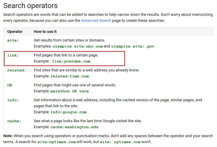google link operator old