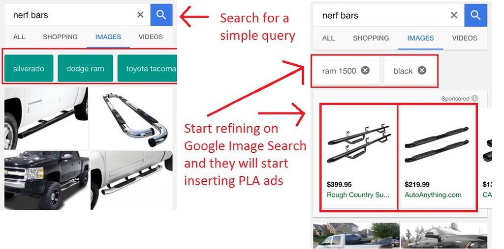google pla refined image search