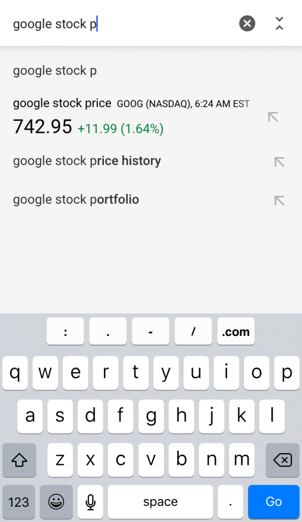 google stock autocomplete 3