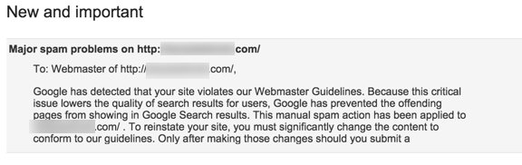 Google Sending Newly Renamed Major Spam Warning Messages