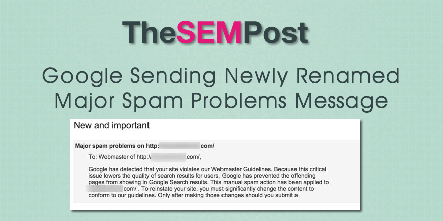 major spam problems