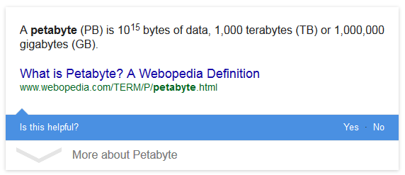 useful featured snippet