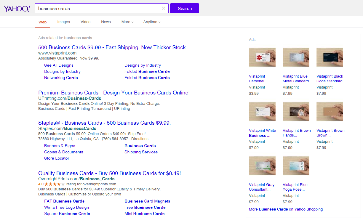 Yahoo Testing Their Own Larger Product Listing Ads